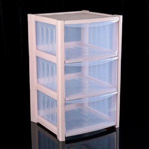 Комод 3-x секционный IDEA «Радуга», цвет розовый