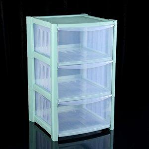 Комод 3-x секционный IDEA «Радуга», цвет аквамарин