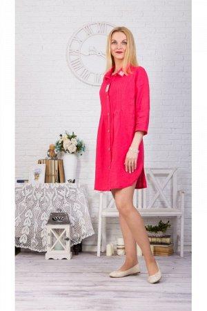 Платье-рубашка новая модель 430 малина