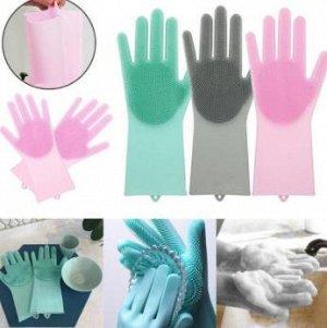 Силиконовые перчатки - скруббер