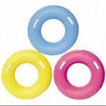 Надувной круг с ручками, диаметр 91см ( в ассортименте)