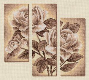 Набор для вышивания PANNA арт. C-1894 Триптих с розами 29,5х27 см