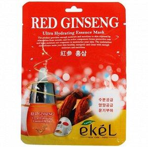 Ekel Тканевая маска для лица RED GINSENG (красный женьшень)
