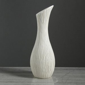 """Ваза настольная """"Лиза"""" белая. 32 см. керамика"""