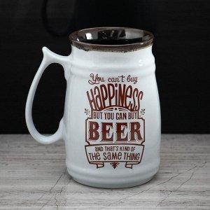 Кружка Прованс Beer пузатая, 0.6 л, микс