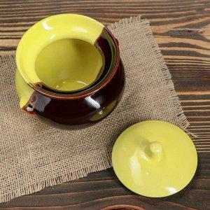 """Горшочек для запекания """"Двухцветный"""" 0,45 л, керамика"""
