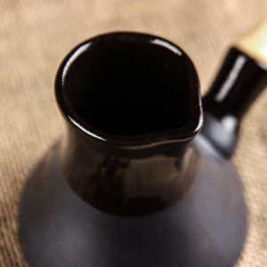 Кофейный набор 3 предмета, чёрный, матовый, турка 0.2 л, чашки 0.1 л
