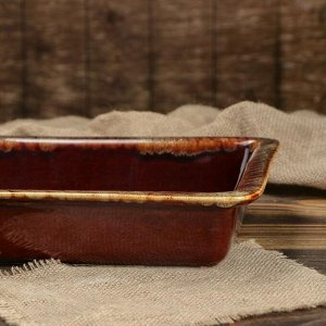 Противень для запекания, коричневый, 2 л