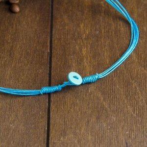 "Колье ""Эолис"" голубой цвет 34х7х2,5 см"