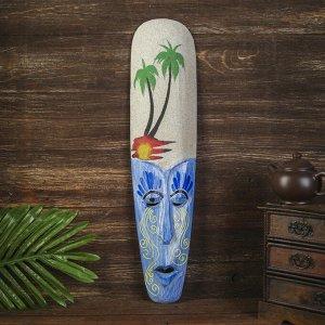 "Настенная маска ""На пляже"" дерево,песок  2,5х11х50 см"