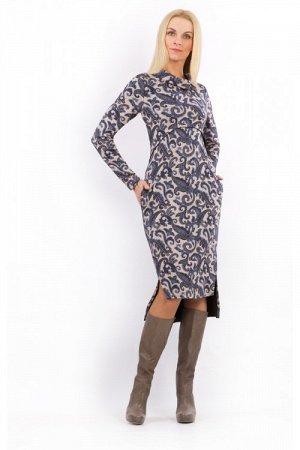 """Платье женское """"Дания"""" меховое модель 696/1 Венеция"""