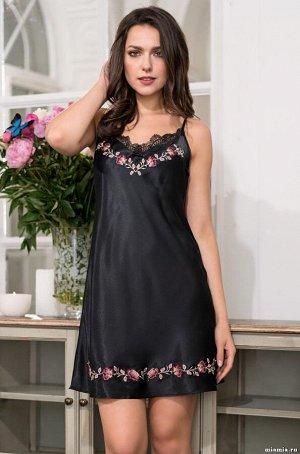 Шёлковая сорочка Mia-Mia, цвет малахит.