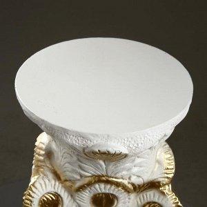 "Фигура - подставка ""Жар птица"" белое золото 39х32х52см"
