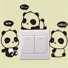 Интерьерная наклейка Панда