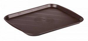 Поднос Поднос 35,5*47см КОРИЧНЕВЫЙ. Поднос универсальный предназначен для переноски посуды и изготовлен из пищевого полипропилена. Прочный материал обеспечивает долговечность изделия, а матовая поверх