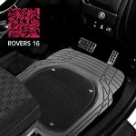 "Коврики а/м CARFORT ""Rovers 16"" резина, ванночка со съёмн.ковр., к-т 2шт. Grey, передний"