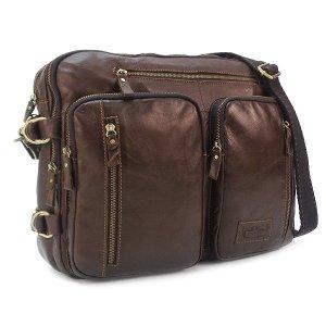 Мужская сумка Ruff Ryder. Кожа. 3905-1/3738 coffee