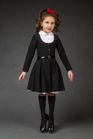 Платье Платье приталенное, МАЛОМЕРИТ НА РАЗМЕР. Юбка со встречными складками. Вырез по полочке, углубенный, отстегивается. Застежка на пуговицы спереди. Манишка на пуговицах. Молния сбоку потайная.64%