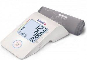 Тонометр автомат. MED-53, питание от Micro USB, подсветка дисплея, индикатор аритмии, память 90, дата и время, цветная шкала давления, конусная манжета M-L (22-42 см)