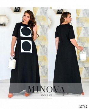 Платье №115-3-черный