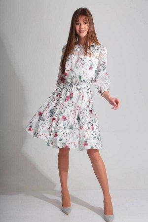 Платье Платье Golden Valley 4576  Состав ткани: Вискоза-15%; ПЭ-82%; Спандекс-3%;  Рост: 170 см.  Платье без воротника, с круглым вырезом горловины, по горловине- окантовка. Застежка на навесную петл