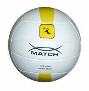 Мяч волейбольный Х-Match , 2 слоя,ПВХ,бело-желтый