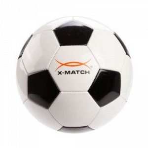 Мяч футбольный X-Match , 1 слой PVC , камера резина , машин. обр., в ассорт.