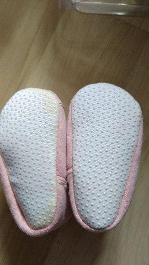 Теплые пинетки-ботиночки розовые