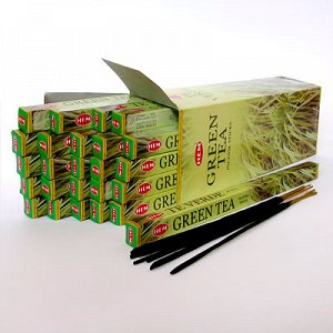 Благовония HEM, четырехгранники, Green Tea (Зелёный Чай)