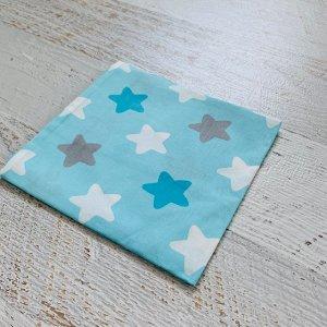 Наволочка 50х70 Голубая, звёзды