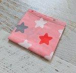Наволочка 40х60 Розовая, звёзды