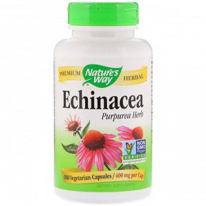 Nature&amp - #x27 - s Way, Echinacea Purpurea Herb, 400 mg, 180 Vegetarian Capsules
