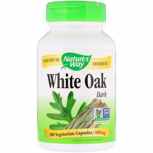 Nature&amp - #x27 - s Way, White Oak Bark, 480 mg, 100 Vegetarian Capsules