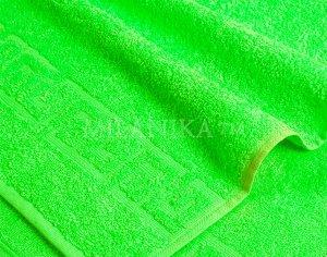 Св. зеленое махровое полотенце