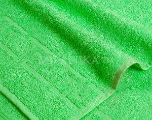 Салатовое махровое полотенце