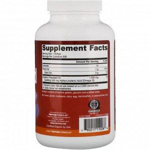 Jarrow Formulas, Органическое льняное масло, 1000 мг, 200 мягких желатиновых капсул