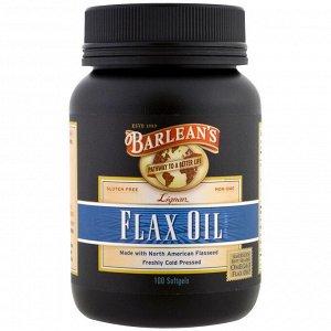 Barlean&#x27 - s, Льняное масло, 100 мягкие таблетки