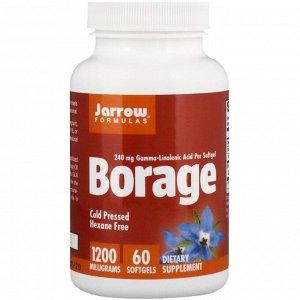 Jarrow Formulas, Borage, GLA-240, 1,200 mg, 60 Softgels