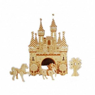 Детский мир: одежда, обувь, аксессуары, игрушки. Наличие! — Деревянные сборные модели (можно раскрашивать) и картонные — Деревянные игрушки
