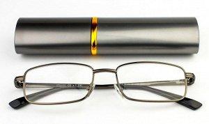 """Очки лекторы крупные """"ручка"""" в футляре (серые)"""