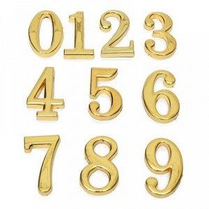 Цифры на дверь самоклеющиеся Золото