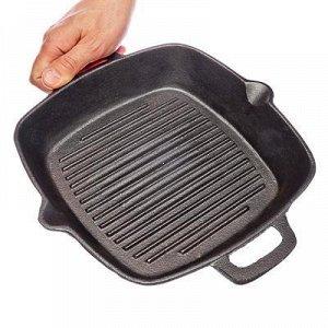 Сковорода-гриль чугунная (004)