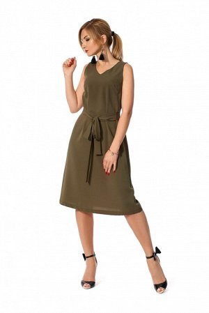 Платье из плотного шифона