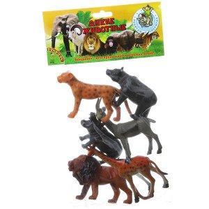 """Набор животных BONDIBON """"Ребятам о Зверятах"""", дикие животные, 5"""", 6 шт."""