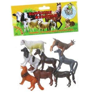 "Набор животных BONDIBON ""Ребятам о Зверятах"", домашние животные, 3"", 8 шт."