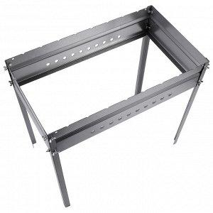 Мангал без шампуров, с рёбрами жёсткости, 62 х 35 х 62 см, сталь 1,5 мм