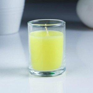 Набор свечей антимоскитных с цитронеллой, в деколированном стакане, 6 шт