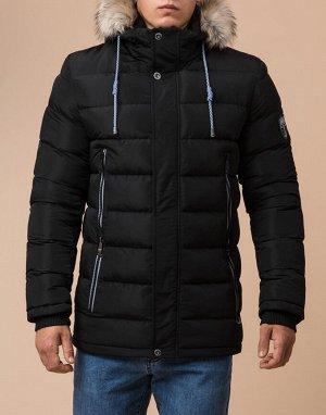Оригинальная мужская куртка цвет черный модель 12528