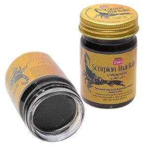 Тайский черный бальзам с ядом скорпиона Scorpion Balm Banna