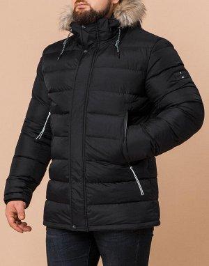 Куртка теплая мужская черного цвета модель 29433